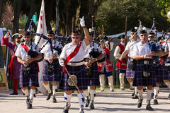 Scottish Pipers Royalty Free Stock Photos