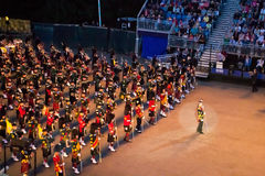Scottish Pipes at Edinburgh Military Tattoo. Scottish Pipes exhibition at Edinburgh Military Tattoo and Fringe Festival stock photos