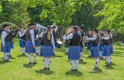 Scottish Piping Band Royalty Free Stock Images