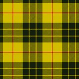 Scottish plaid, black bands on yellow. MacLeod tartan seamless p. Scottish plaid, MacLeod tartan seamless pattern, three black stripes over the yellow field vector illustration