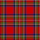 Scottish plaid. Royal Stewart tartan. Scottish plaid in classic colors. Royal Stewart tartan seamless pattern with fabric texture effect vector illustration