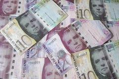 Scottish Pound notes Stock Images