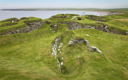 Scottish prehistoric site in Orkney. Skara Brae. Scotland Royalty Free Stock Image