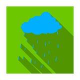 Scottish rainy weather icon in flat style isolated on white background. Scotland country symbol stock vector Royalty Free Stock Image