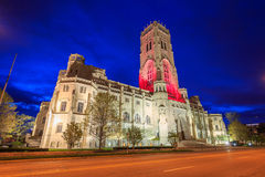 Scottish Rite Cathedral in downtown Indianapolis. At sunset Stock Photos