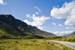 Scottish road Royalty Free Stock Photos