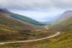 Scottish road trough countryside Royalty Free Stock Image