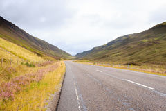 Scottish road trough countryside Royalty Free Stock Images