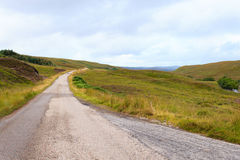 Scottish road trough countryside Stock Photos