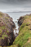 Scottish Rock Coastline Stock Photography