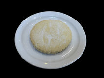 Scottish Round Shortbread Biscuit. Round Scottish Shortbread biscuit on a round white plate the biscuit has sugar on it and looks tasty Royalty Free Stock Photos