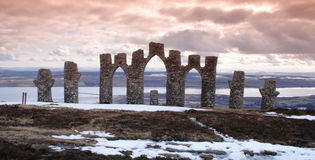 Scottish ruin - Fyrish Monument Royalty Free Stock Image