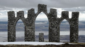 Scottish ruin - Fyrish Monument Stock Photos
