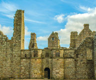 Scottish ruin skyline. Beautiful ruins of Tolquhon Castle, Aberdeenshire, Scotland Stock Photo