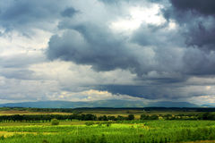 Scottish rural landscape. With dramatic sky Stock Image