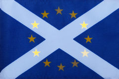 Scottish saltire and European union flag Royalty Free Stock Photo