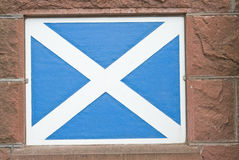 Scottish Saltire flag painted on wall. Royalty Free Stock Photography