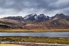 Scottish scenery on isle of Skye Royalty Free Stock Photos