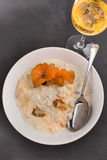 Scottish seafood chowder in a deep plate Royalty Free Stock Photography