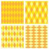 Scottish seamless pattern. Set of traditional national texture with squares and triangles Royalty Free Stock Photos