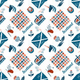 Scottish seamless pattern Stock Image