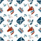 Scottish seamless pattern Stock Image