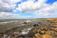 Scottish seashore on sunny day, Longnaddry Royalty Free Stock Image