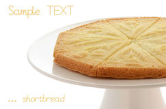Scottish shortbread. Freshly baked Scottish shortbread on white cakestand  on white Stock Images