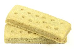 Scottish shortbread fingers Royalty Free Stock Images