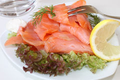 Scottish smoked salmon Stock Photo
