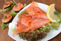 Scottish smoked salmon Royalty Free Stock Image