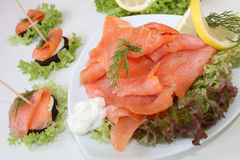 Scottish smoked salmon Stock Photos