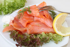Scottish smoked salmon Royalty Free Stock Photography