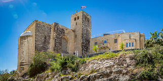 Scottish St. Andrews Church. JERUSALEM, ISRAEL - APRIL 4: Panoramic view of Scottish St. Andrews Church, outside the walls of the Old City in Jerusalem, Israel stock photography