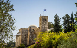 Scottish St. Andrews Church in Jerusalem, Israel. JERUSALEM, ISRAEL - OCTOBER 5: View of Scottish St. Andrews Church, outside the walls of the Old City in royalty free stock images