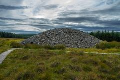Scottish stone house clava cairns royalty free stock photography
