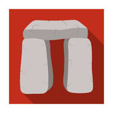 Scottish stone monument icon in flat style  on white background. Scotland country symbol stock vector Stock Images
