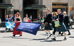 Scottish tartan day parade Stock Photo