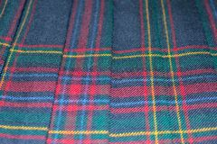 Scottish tartan fabric Royalty Free Stock Image