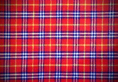 Scottish tartan fabric with colored rectangles Royalty Free Stock Photography