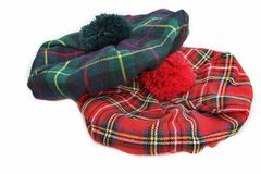 Scottish Tartan Hat. Bonnet Royalty Free Stock Photos