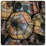 Scottish tartan hats Stock Photos