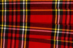 Scottish tartan pattern. Red plaid print as background. Royalty Free Stock Images