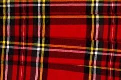 Scottish tartan pattern. Red plaid print as background. Royalty Free Stock Images