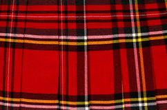 Scottish tartan pattern. Red plaid print as background. Royalty Free Stock Photos