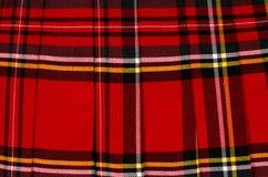 Scottish tartan pattern. Red plaid print as background. Royalty Free Stock Photos