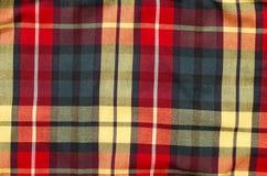 Scottish tartan pattern. Red and purple plaid print as background. Stock Image