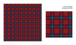 Scottish tartan. Vector seamless pattern. High detailed Scottish tartan, traditional checkered British fabric or plaid pattern. Design of fabric Stock Photo