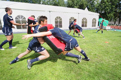Scottish team training Stock Images