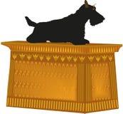 Scottish Terrier da estátua do cão ilustração stock